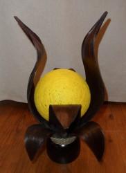 lampe fleur de lys noire boule fils