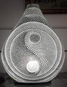 lampe resine yin yang