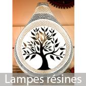 Lampes résines